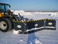 Three sectional snowblower